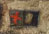 collage sur bois 22x31